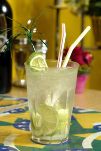 Caipirinha is a common drink in Rio